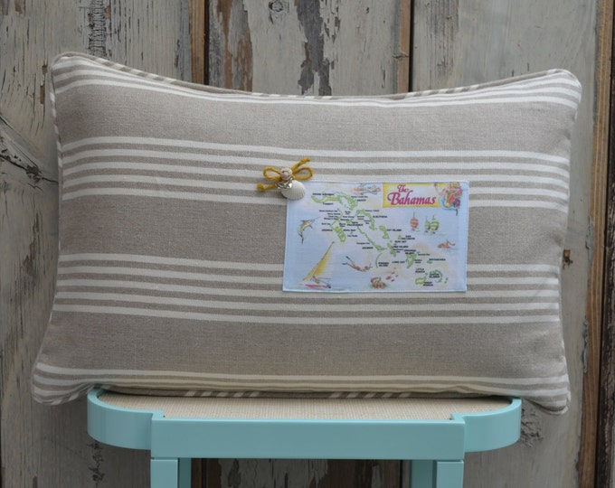 Bahamas Postcard Pillow  (available in 4 styles)