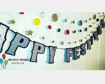 HAPPY FESTIVUS Banner, Festivus Party Decor, Festivus Banner, Festivus Decor, Festivus Mantel Decor, Festivus Celebration
