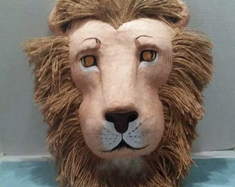 Hand Painted Lion Wall Hanging