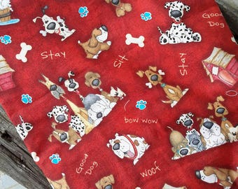 Dog knitting bag, project bag, WIP bag, Crochet bag, cosmetics bag, tote bag