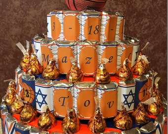 4 Tier Personalized Candy Cake Bar Mitzvah