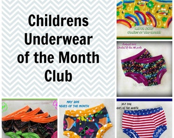 Childrens Underwear of the Month Club - You choose size, gender and subscription length