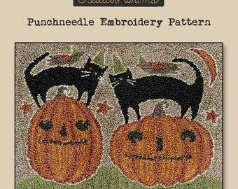Punchneedle | Teresa Kogut | Pattern | Needlwork | DIY | Crafts | Halloween Duos | PN156