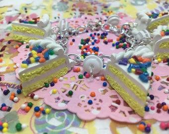 Birthday Cake Slice Charm Bracelet