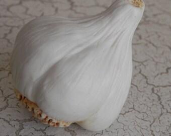 porcelain garlic bulb super realism faux food photo prop