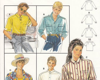 Burda 5178 Children Shirt sewing pattern - UNCUT Size 8 To 16