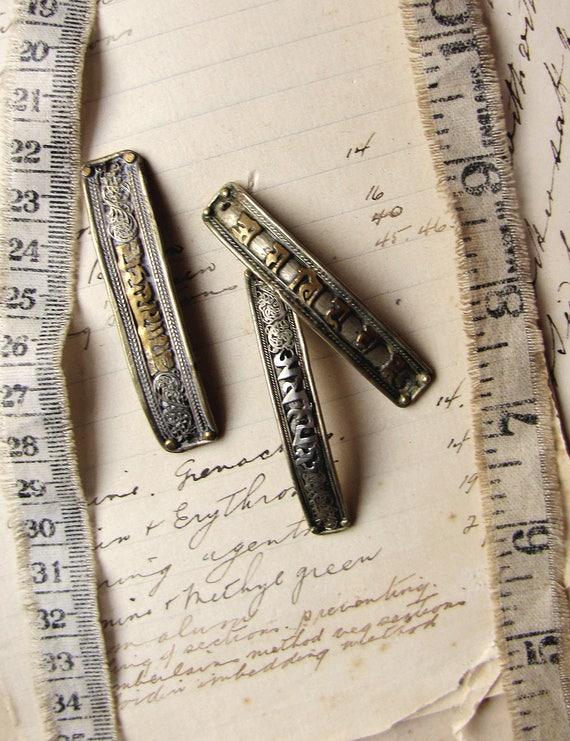 Basket Weaving Supplies Melbourne : Tibetan bracelet focals set of handmade metal curved