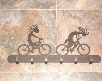Custom Bicycle HELMET RACK  Metal Sign Personalized Bike Biker Coat Hook Bikerpelli