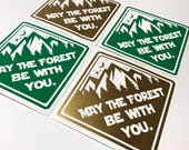SALE! Buy One Get The Same One Free! May The Forest Be With You - Roller Derby Helmet or Window Vinyl Sticker Decal