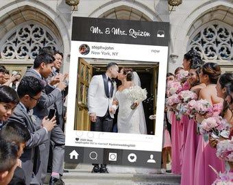 Photo Prop Frame, BLACK CHALKBOARD BANNER, Photo Props for Kids, Photo Props Birthday, Photo Props Wedding, Social Media Frame, Wedding Prop