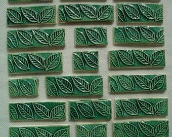 LP21 - 21 pc LEAVES BORDER - Ceramic Mosaic Tiles