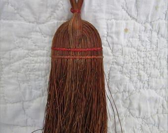 Vintage Straw Whisk Broom