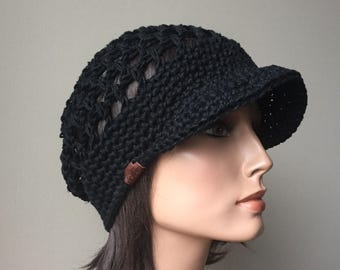 Rasta Mesh Slouchy Cap brimmed hat Black Eco Friendly Hemp summer spring Fashion Ready to ship