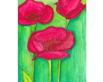 Poppy Garden - Print
