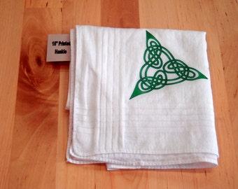 Printed Celtic Knotwork Hankie U - triangular design - bandanna - napkin