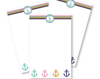 Personalized Notepad - Anchor's Away