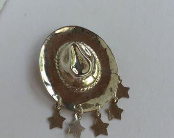 Sterling Silver Western Theme Brooch