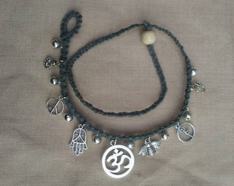 Coexist om hemp bell anklet and boot accessory