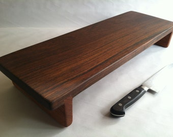 Tall and Long RECLAIMED Hard as a Rock IPE Raised serving/cutting board eco hardwoods