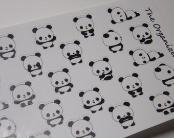 40 Bamboo the Panda Stickers / Mini Stickers / Cute stickers for your Erin Condren Life Planner