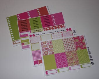 Paisley Weekly Sticker Kit / Great for your vertical Erin Condren Life Planner