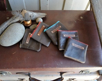 Kangaroo Leather Pouches - Small in Dark Browns