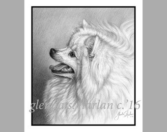 American Eskimo Dog Fine Art Note Cards - EIGHT PACK
