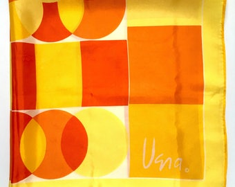 Vintage Vera - Sunny Geometric Square Scarf