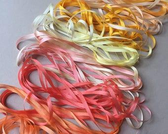 Sunshine Mix - 20 metres of 3.5mm silk ribbon