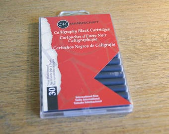 Calligraphy Ink Cartridges - Black Pack Of 30 by Manuscript