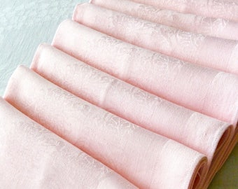 8 Pink LINEN Damask Napkins 20 x 20