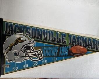 Jacksonville Jaguars 1995 Large Felt Pennant  Wincraft/USA