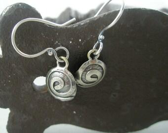 Sterling Silver Oxidized Swirl Earrings