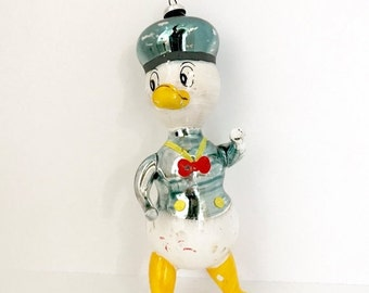 SALE 30% OFF CHRISTMAS Vintage Christmas Tree Glass Ornament Donald Duck Blown Glass