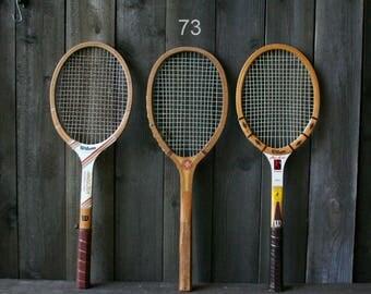 Vintage Tennis Racket Sets Of Three Rackets Vintage From Nowvintage on Etsy