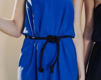 Simple black padded fabric belt, oriental, chinese belt