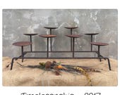 Reserved for a queen do not buy  Fireplace Candelabra - Metal Candelabra - Black Candelabra - Candle Holder - Pillar Candle Holder - Rustic