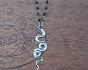 Sterling Silver Slithering Snake Serpent Necklace - READY TO SHIP