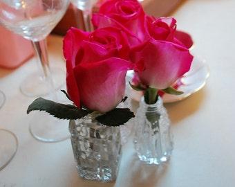 Vintage Mismatched Tableware, Salt and Pepper Shakers, Mismatched Shakers, Vintage Shakers, Set of Three, Bud Vases