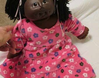 Original Cabbage Patch Kid doll 1984 african American dark cloth body good condition