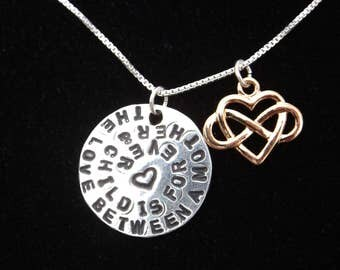 A Mothers Love necklace, Love Between Mother and Child necklace, Mother's Day gift, Gifts for Mom, Infinite Love necklace