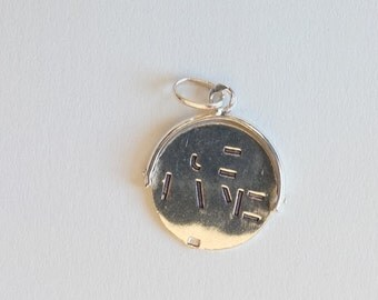 Vintage Sterling Silver Lucky Pendant