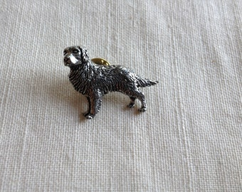 Choose ONE Antiqued Pewter Tie Tack Pin  Dog