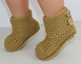 50% OFF SALE Madmonkeyknits - Baby Simple Button Up Booties knitting pattern pdf download - Instant Digital File pdf knitting pattern