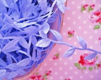 Leaf Garland Ribbon - Lavender - 1 inch - 3 Yards