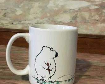 Vintage GOLF Mug Humorous Hallmark 80s Coffee Cup Shoebox Greetings Bowers