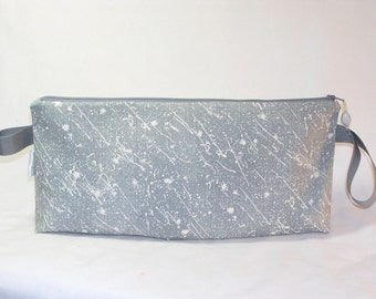Grey Splatter Anna Clutch