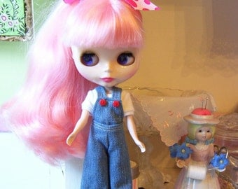 Cute Bib Overalls for Blythe...Denim