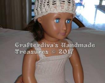 """18"""" Doll Hat, Newborn Baby Hat, Loom Knitted Hat, Yarn Hat"""