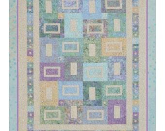 SEA GLASS ©2010 Modern Quilt Pattern by Nellie J Designs - NJD111 - sea glass quilt pattern